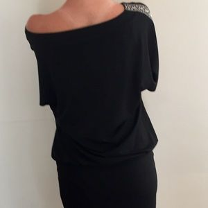 White House black Market blouson/bodycon dress